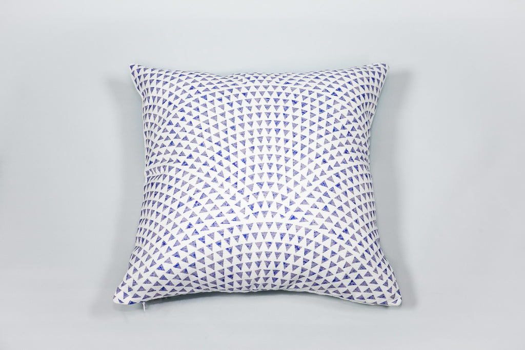 Reef Print White & Blue Cushion - Square