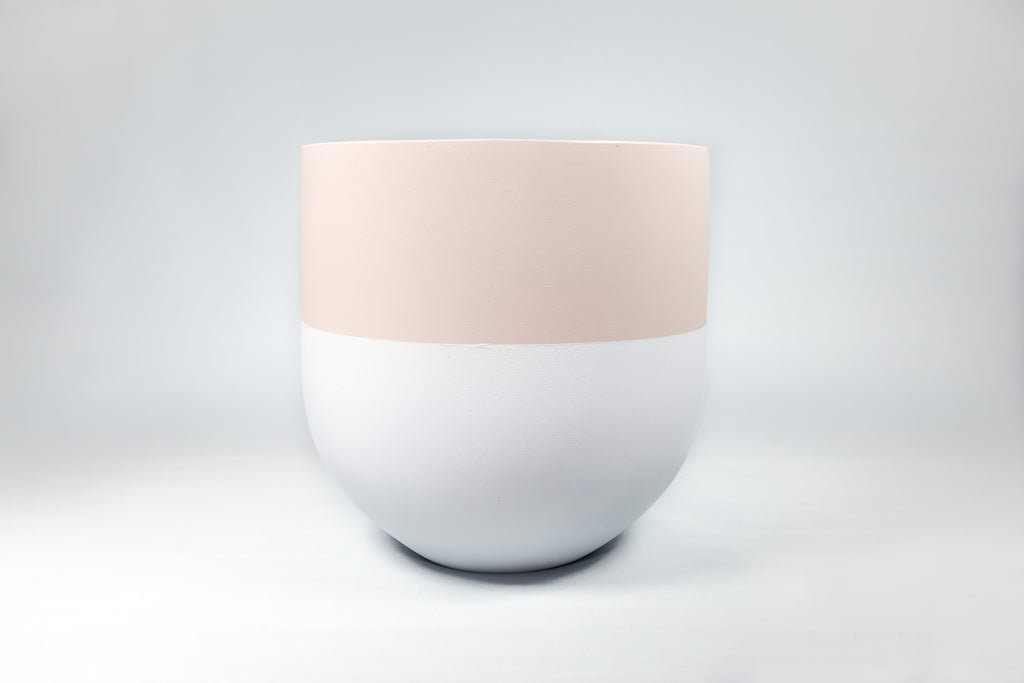 Nude and White Concrete Pot