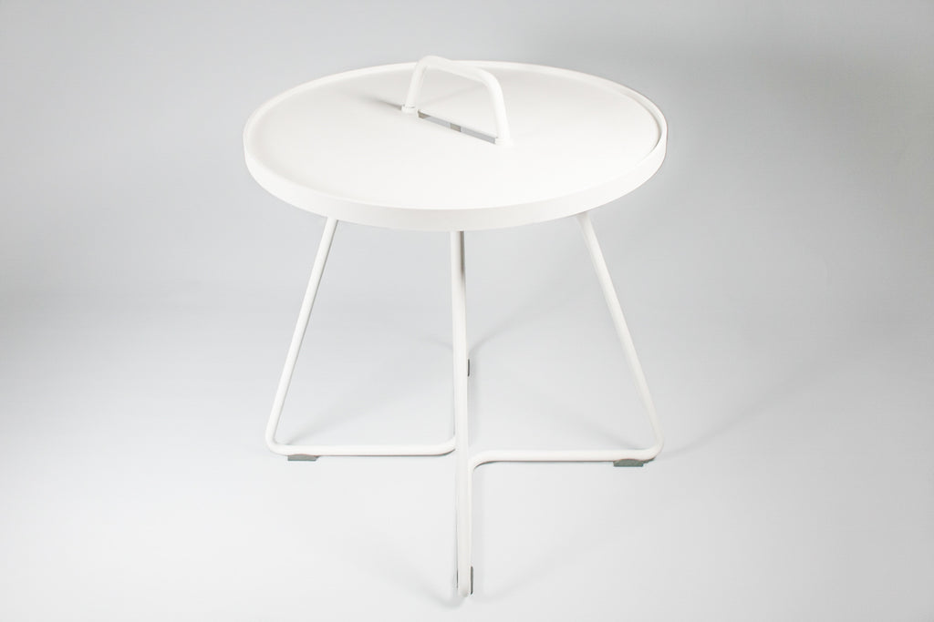 Cane-line Australia White - On the move side table - Small