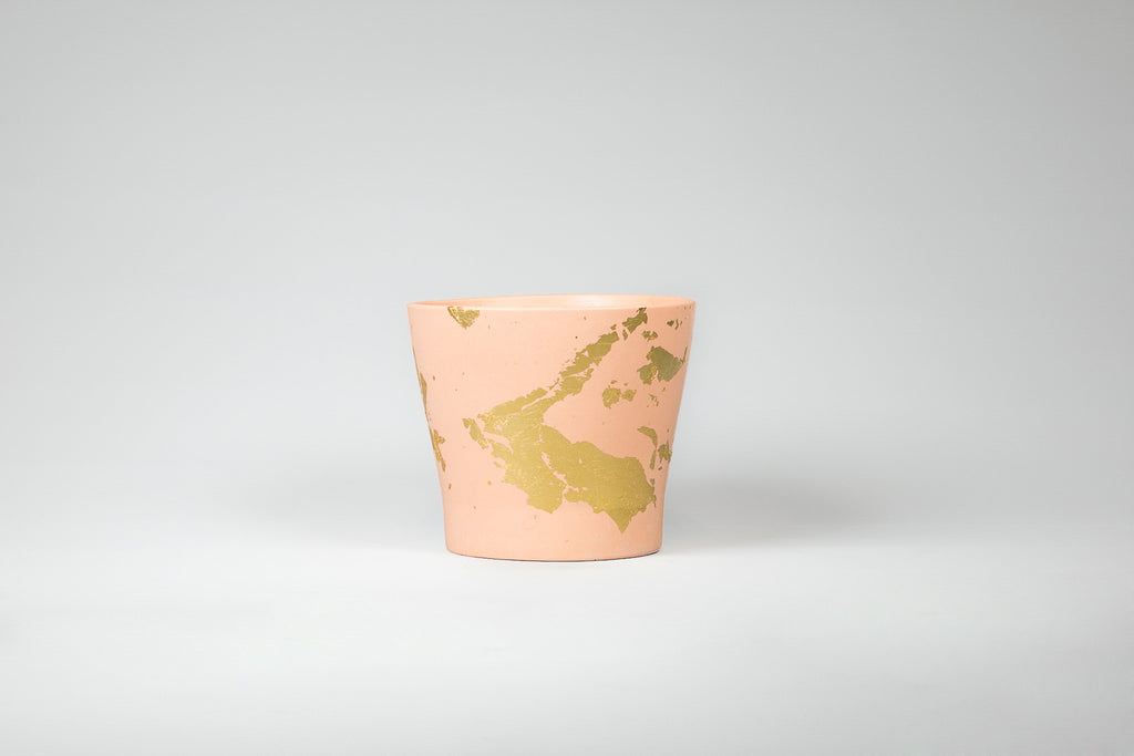 Capra Designs Shimmer Peach and Gold mini pot