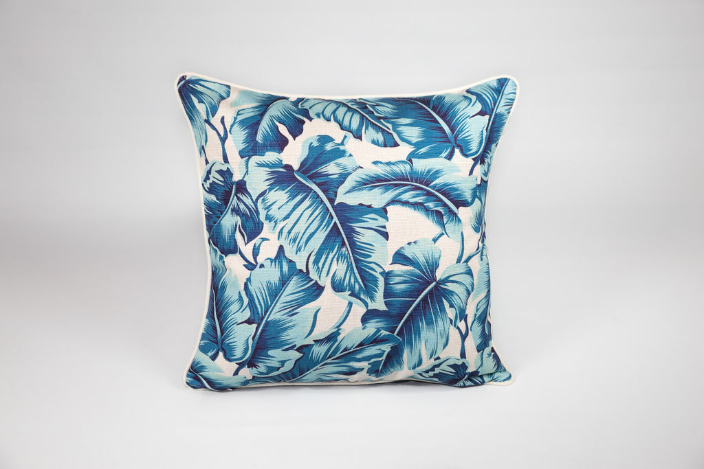Escape to Paradise Carribbean Leaf Cushion - Square