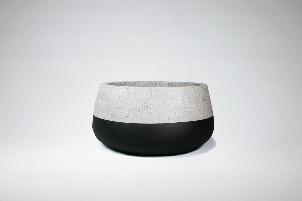 Squash - Black and Concrete Pot