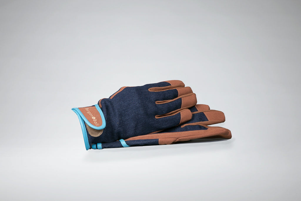 Burgon & Ball Denim Leather garden glove