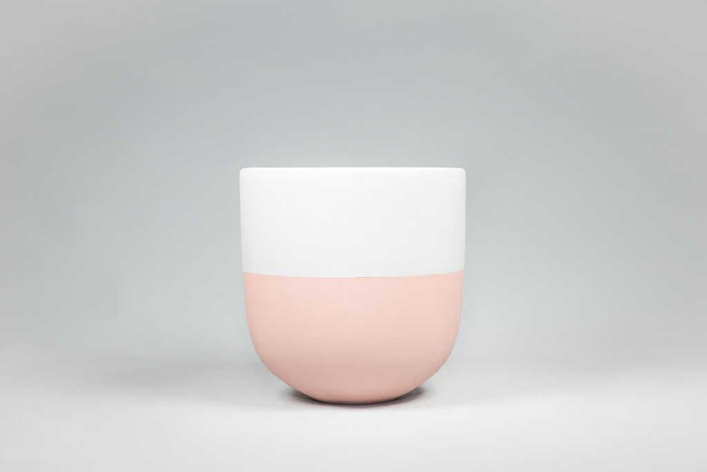 On the Side Pots Sorbet/Pink and White Pot
