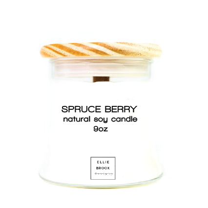 Spruce Berry Natural Soy Candle