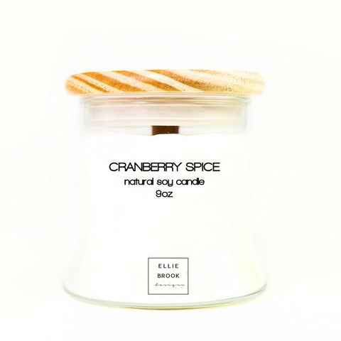 Cranberry Spice Natural Soy Candle