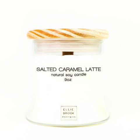 Salted Caramel Latte Natural Soy Candle
