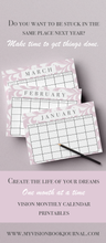 My Vision Book Journal™ Digital Planner Printables