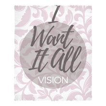 I Want It All Vision Book Chenille Rug