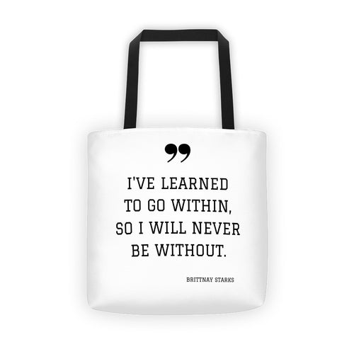 Within Me Tote Bag