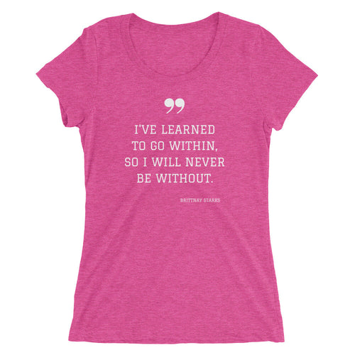 Within Me Ladies' short sleeve t-shirt