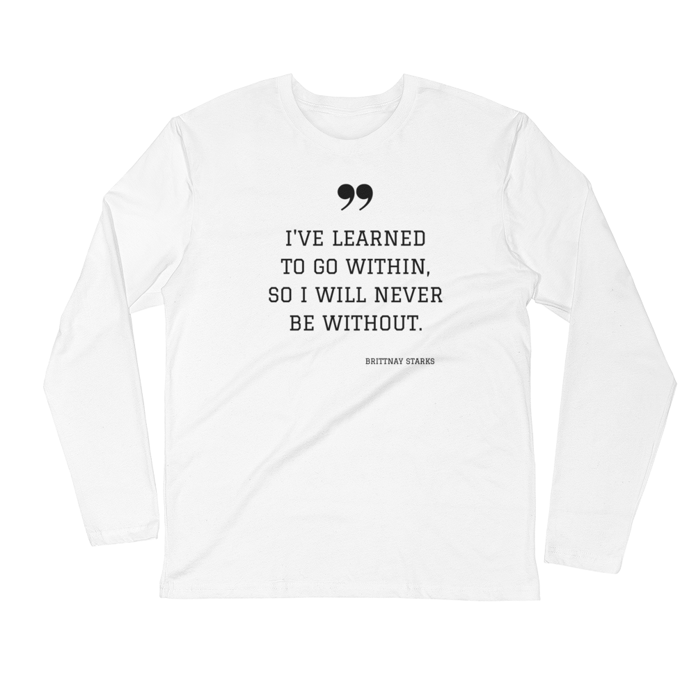 Within Me Men's Long Sleeve Fitted Crew