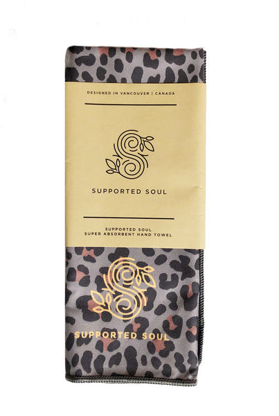 Super Absorbent Hand Towel -Cheetah