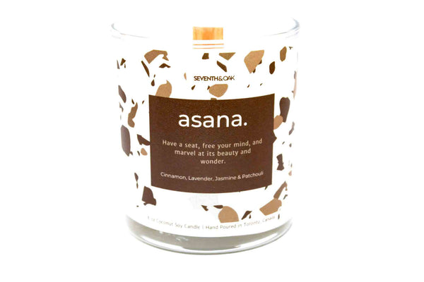 Seventh & Oak Soy Wood Wick Candle- Asana