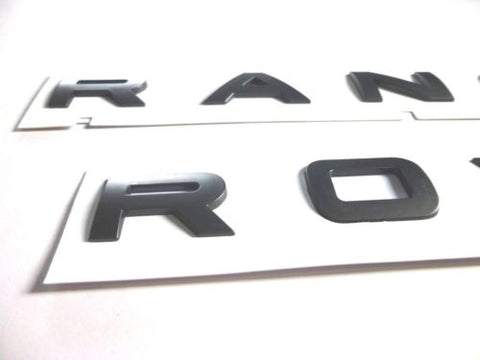 2x Matt Grey Range Rover Sport Evoque Front/Rear Lettering Letters Badge