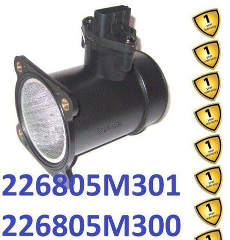 Nissan X-Trail Almera Primera 2000-07 Mass Air Flow Meter 226805M301 226805M300
