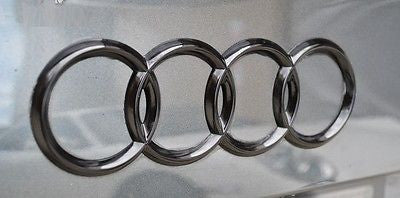 Audi A1 A2 A3 S3 RS3 Gloss Black 3D Boot Logo/Rings/Badge/Emblem 180mm x 60mm