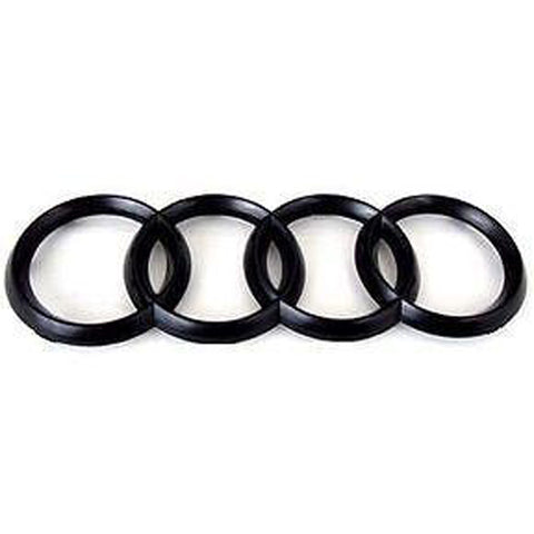 Audi A1 A2 A3 S3 A5 S5 MATT Black 3D Boot Logo/Rings/Badge/Emblem 180mm x 60mm