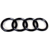 Audi A5 S5 A7 S7 RS7 Gloss Black 3D Boot Logo/Rings/Badge/Emblem 180mm x 60mm