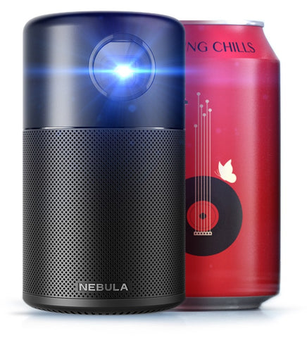 Anker Nebula Capsule Projector | Portable Wifi HD-Ready Smart Portable Projector - Black
