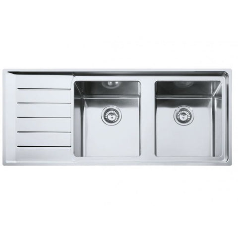 Franke Neptune Plus 1160 Stainless Steel Double Bowl Sink with Drainer 1160x510 Kitchen Sink - Friendly Kitchen
