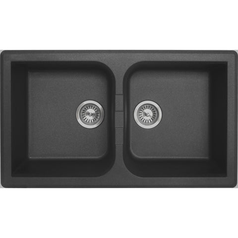 Ytalo Granite Double Bowl Kitchen Sink 860x500x225 Kitchen Sink - Friendly Kitchen