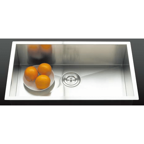Versastyle Square Cornered Single Bowl Kitchen Sink, Accessories 740x450x213 Kitchen Sink - Friendly Kitchen