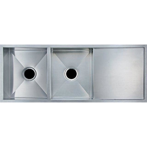 The Wholesale Man Stainless Steel Double Bowl Kitchen Sink With Drainer 1160x460x230 Kitchen Sink - Friendly Kitchen