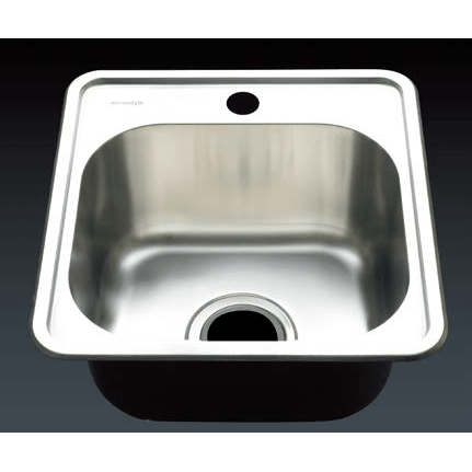 Versastyle Stainless Steel Single Bowl Kitchen Sink with Tap Hole 378x388x180 Kitchen Sink - Friendly Kitchen