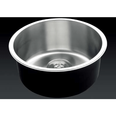 Versastyle Stainless Steel Round Single Bowl Kitchen Sink, Accessories D420x180 Kitchen Sink - Friendly Kitchen