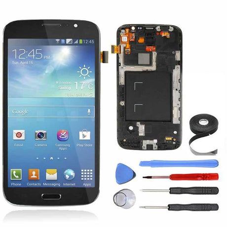 Samsung Galaxy Mega 5.8 LCD Screen, Frame and Digitizer Premium Repair Kit - Black