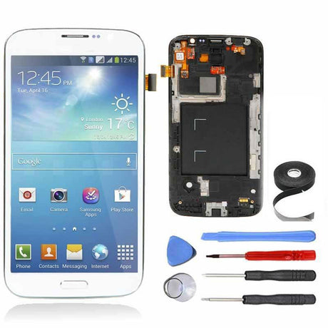 Samsung Galaxy Mega 5.8 LCD Screen, Frame and Digitizer Premium Repair Kit - White