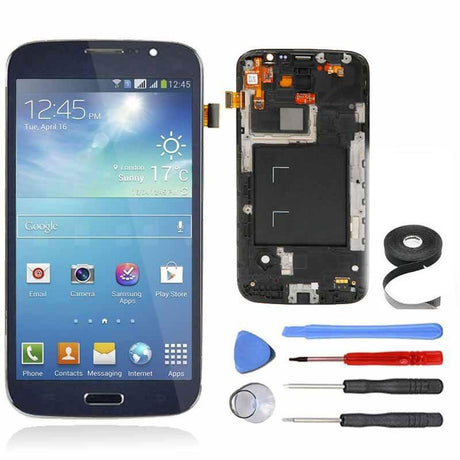 Samsung Galaxy Mega 5.8 LCD Screen, Frame and Digitizer Premium Repair Kit - Blue