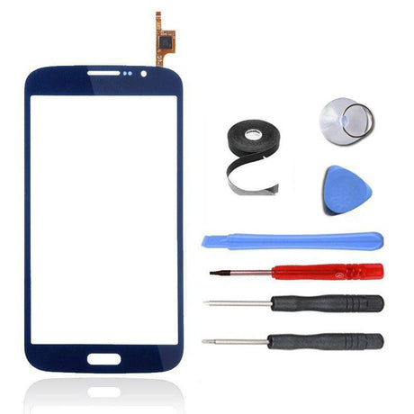 Samsung Galaxy Mega 5.8 Glass and Screen Digitizer Replacement Premium Repair Kit - Blue