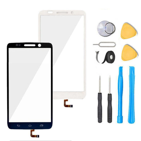 Motorola Droid Mini Glass Screen Replacement + Touch Digitizer Premium Repair Kit XT1030  - Black / White