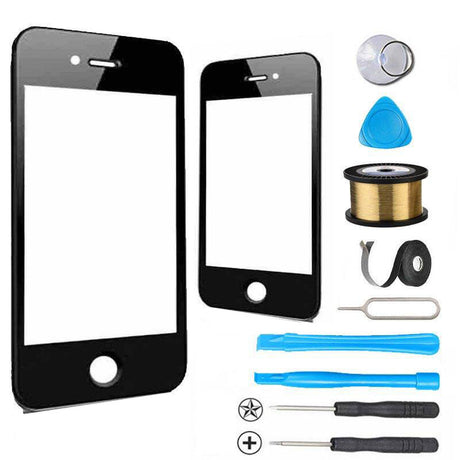 iPhone 4 Glass Screen Replacement Premium Repair Kit  - Black