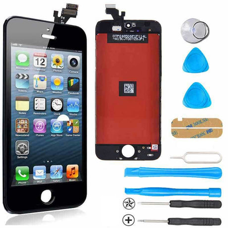 iPhone 5 LCD Screen Replacement and Digitizer Premium Repair Kit - Black