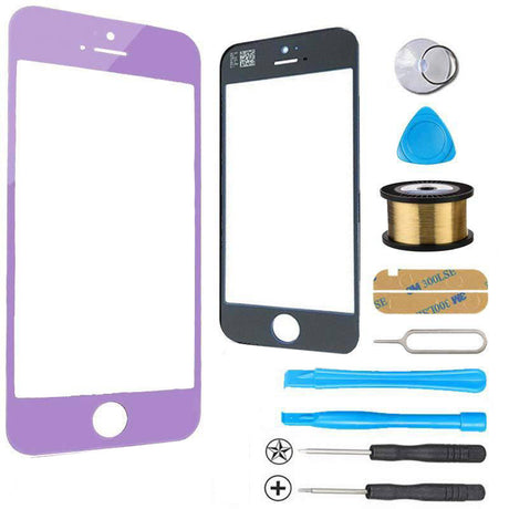 iPhone 5s 5c 5 Glass Screen Replacement Premium Repair Kit - Purple