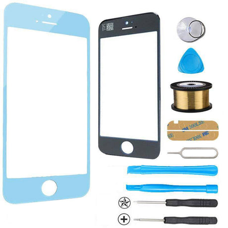iPhone 5s 5c 5 Glass Screen Replacement Premium Repair Kit - Light Blue