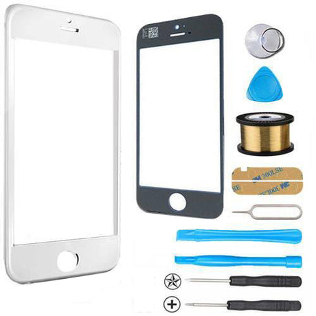 iPhone 5s 5c 5 Glass Screen Replacement Premium Repair Kit - White
