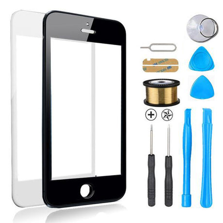 iPhone 5s 5c 5 Glass Screen Replacement Premium Repair Kit - Black or White