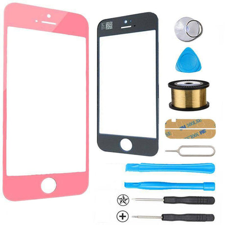 iPhone 5s 5c 5 Glass Screen Replacement Premium Repair Kit - Pink