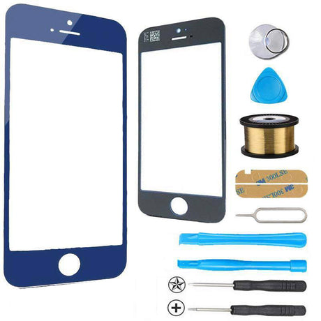 iPhone 5s 5c 5 Glass Screen Replacement Premium Repair Kit - Dark Blue