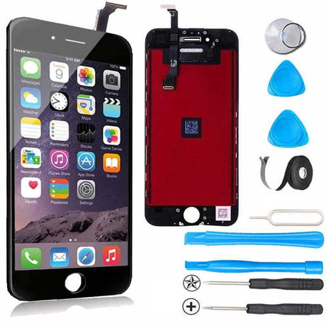 iPhone 6 LCD Screen Replacement and Digitizer Premium Repair Kit + Easy Repair Video - Black