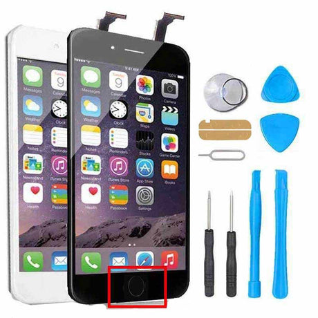 iPhone 6 LCD + Glass Screen Replacement + Digitizer + HOME BUTTON + CAMERA Repair Kit  - Black or White