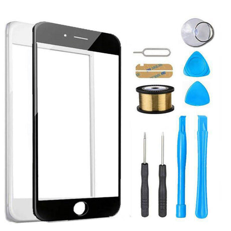iPhone 8 Plus Glass Screen Replacement Premium Repair Kit - Black or White