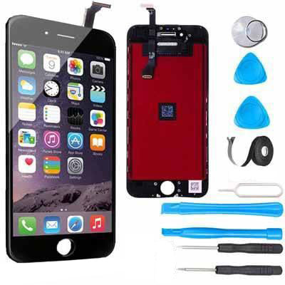iPhone 6 Plus LCD Screen Replacement and Digitizer Display Premium Repair Kit  - Black