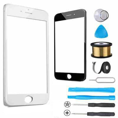 iPhone 6 Plus Glass Screen Replacement Premium Repair Kit - White