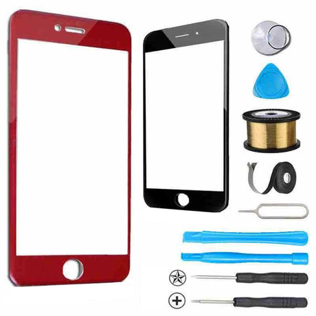 iPhone 6 Plus Glass Screen Replacement Premium Repair Kit - Red