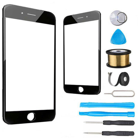 iPhone 6 Plus Glass Screen Replacement Premium Repair Kit - Black